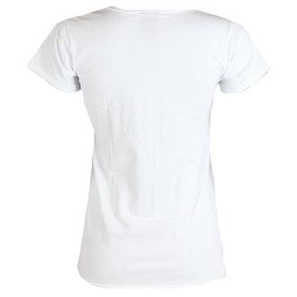 Damen T-Shirt  AMPLIFIED - Rolling Stones - USA Tongue - White, AMPLIFIED, Rolling Stones