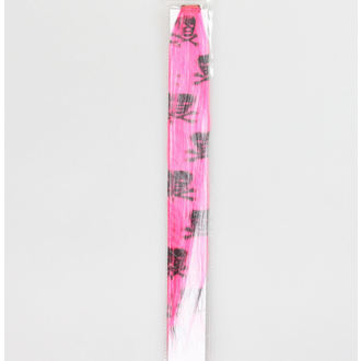 Haarteil mit Clip  Black Skull - Pink, NNM