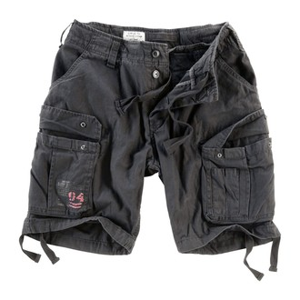 Herren Shorts  SURPLUS - Airborne Vintage - Black, SURPLUS