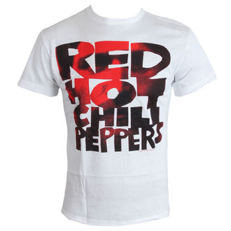 Herren T-Shirt   Red Hot Chili Peppers - Type Face Fill - White - AMPLIFIED, AMPLIFIED, Red Hot Chili Peppers