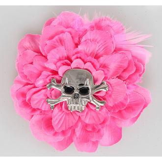 Haarspange   Pink Skull