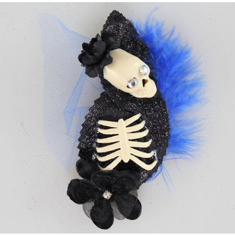 Haarspange   Skeleton Blue/Black