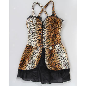 Damen Kleid  BLACK PISTOL - Punk - Leopard, BLACK PISTOL