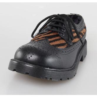 Schuhe UNDERGROUND - Blk Leather/Capucino Zebrino, NNM