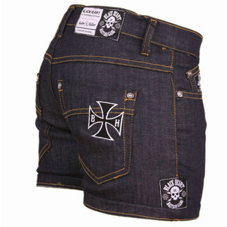 Damen Shorts  BLACK HEART - Blue Denim, BLACK HEART