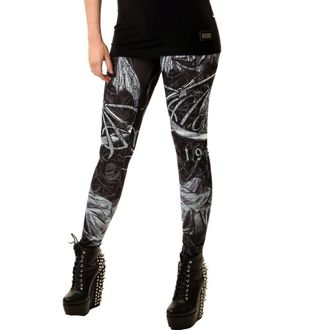 Damenhose  (Leggings) ALCHEMY BLACK - Death God, ALCHEMY BLACK