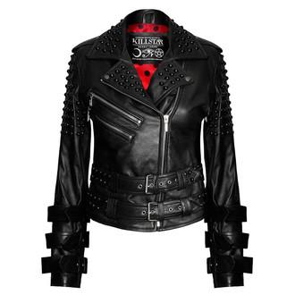 Damen Jacke Lederjacke  KILLSTAR - Buckled Leather, KILLSTAR