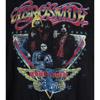 Herren T-Shirt   Aerosmith - Distressed World Tour - LIVE NATION, LIVE NATION, Aerosmith
