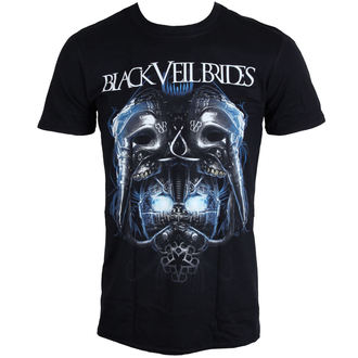 Herren T-Shirt BLACK VEIL BRIDES - Metall Maske - BLK - LIVE NATION, LIVE NATION, Black Veil Brides