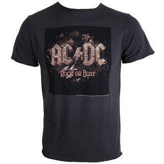 Herren T-Shirt AC/DC - Rock Or Bust - Charcoal - AMPLIFIED