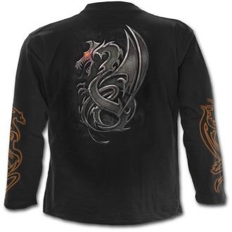 Herren Longsleeve SPIRAL - Dragon Slayer - Black