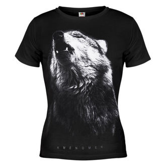Damen T-Shirt AMENOMEN - Wolf - BLK - DOMEN036