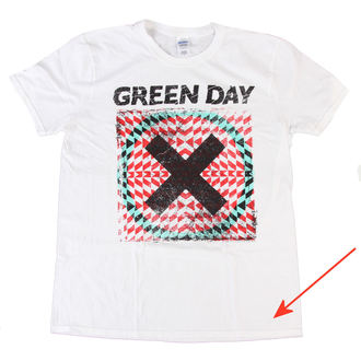 Herren T-Shirt Green Day - Xllusion - White - BRAVADO EU - BESCHÄDIGT, BRAVADO EU, Green Day