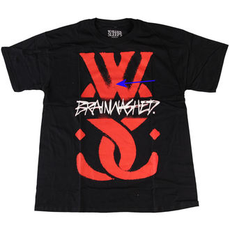 Herren T-Shirt  While She Sleeps - Logo - ROCK OFF - BESCHÄDIGT, ROCK OFF, While She Sleeps