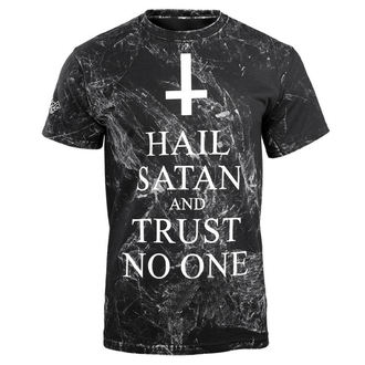 Herren T-Shirt Hardcore - HAIL SATAN AND TRUST NO ONE - AMENOMEN, AMENOMEN