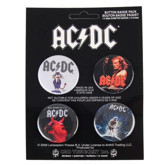 Button AC/DC - Logo, C&D VISIONARY, AC-DC