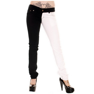Hose Damen 3RDAND56th - Split Leg - Black/White