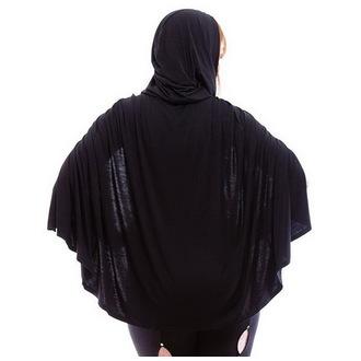 Hoodie (Tagesdecke) Damen NECESSARY EVIL - Gothic Dunne - Black
