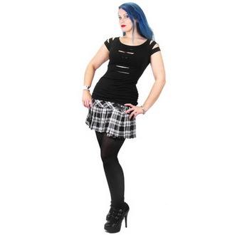 Damen T-Shirt  NECESSARY EVIL - Erinys Slashed - Black, NECESSARY EVIL
