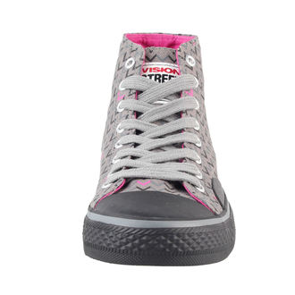 Schuhe Ladies VISION - Canvas HI - Grey/Pink, VISION