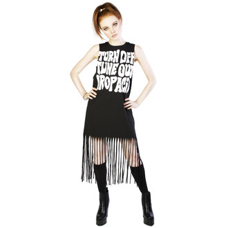 Damen Kleid DISTURBIA - Acid Fringe - Black, DISTURBIA