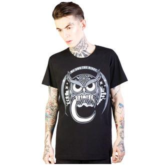Herren-T-Shirt DISTURBIA - Owl - Black