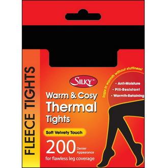 Damen Winter Thermo Strumpfhose  LEGWEAR - Seidig - Black, LEGWEAR