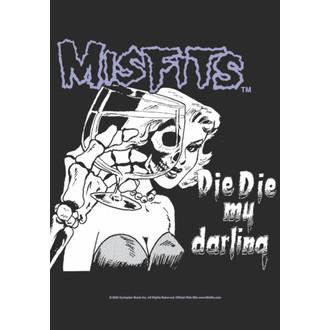 Fahne Misfits - Die Die My Darling, HEART ROCK, Misfits