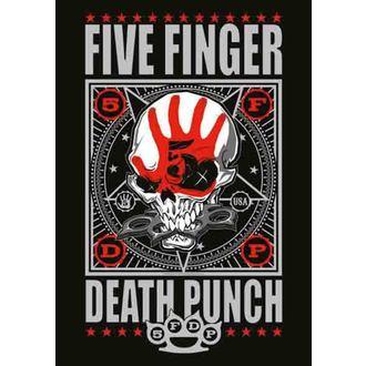 Fahne Five Finger Death Punch - Punchagram, HEART ROCK, Five Finger Death Punch