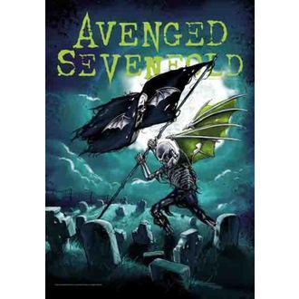 Fahne Avenged Sevenfold - Cemetary, HEART ROCK, Avenged Sevenfold