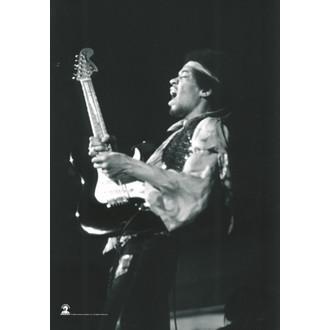 Fahne Jimi Hendrix - B. & W.Guitar, HEART ROCK, Jimi Hendrix