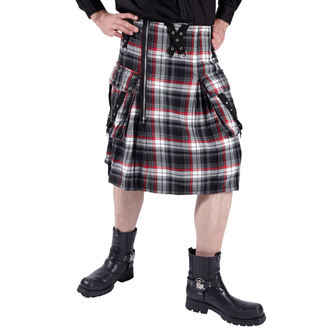 Kilt Men DEAD THREADS  - Black/White/Red, DEAD THREADS