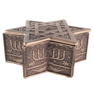 BOX (Dekoration) Star of David & Menorah