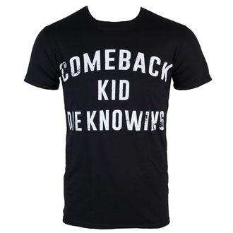 Herren T-Shirt  Comeback Kid - Die Zu wissen, - Black - KINGS ROAD, KINGS ROAD, Comeback Kid