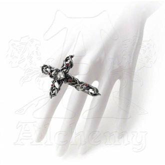 Ring ALCHEMY GOTHIC - Dornig Cross Handspan, ALCHEMY GOTHIC