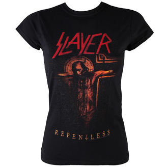 Damen T-Shirt Slayer - Repentless Crucifix - ROCK OFF, ROCK OFF, Slayer