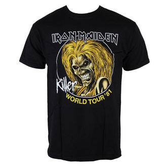 Herren T-Shirt Iron Maiden - Killers World Tour 81 - Blk - ROCK OFF, ROCK OFF, Iron Maiden