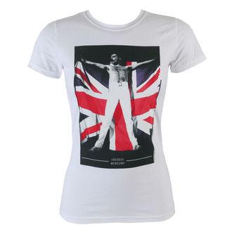 Damen T-Shirt Freddie Mercury - Flag - BRAVADO, BRAVADO, Queen