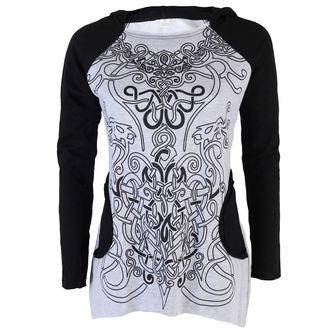 Frauen Langarmshirt (Tunika) ALISTAR - Viking Symbols - Grey, ALISTAR