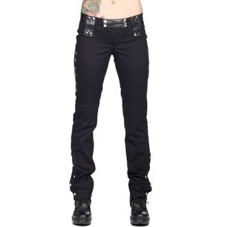 Hose Damen BLACK PISTOL - Stud Low Cut Black Denim, BLACK PISTOL