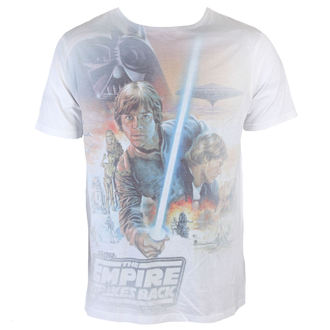 Herren T-Shirt Star Wars - Luke Skywalker Sublimation - White - INDIEGO, INDIEGO