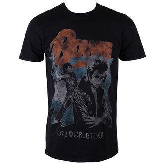 Männer Shirt David Bowie - 1972 World Tour - Black - ROCK OFF, ROCK OFF, David Bowie