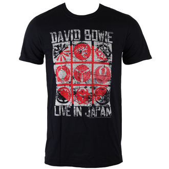 Männer Shirt David Bowie - Live In Japan - Black - ROCK OFF, ROCK OFF, David Bowie