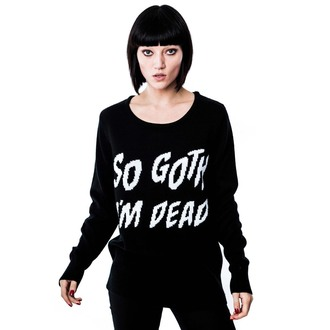 Pullover (Unisex)  KILLSTAR - So Goth - Black, KILLSTAR