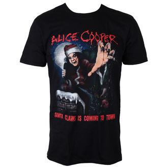 Männer Shirt Alice Cooper - Santa Claws - ROCK OFF, ROCK OFF, Alice Cooper