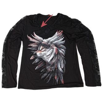 Damen Langarmshirt  SPIRAL - Spirit  Of The Wolf - BESCHÄDIGT, SPIRAL