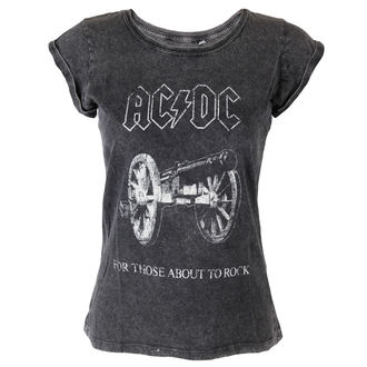 Damen T-Shirt AC/DC - About To Rock - ROCK OFF, ROCK OFF, AC-DC