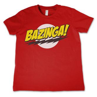 T-Shirt Kinder The Big Bang Theory - Bazinga Super Logo - Red - HYBRIS, HYBRIS