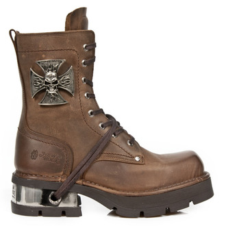 Schuhe NEW ROCK - VENTURE AVIADOR Marrone M3 ACERO ORIF, NEW ROCK