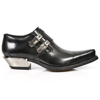 Schuhe NEW ROCK - WEST NEGRO-ACERO TACON, NEW ROCK